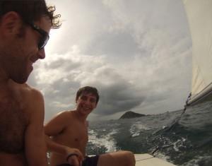 Laser Sailing as 20mph Winds Gust Over Nang Yuan, Koh Tao