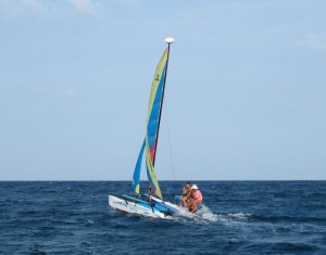Sailing Koh Tao Hobie Catamaran Course in Action