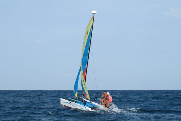Sailing Koh Tao Hobie Catamaran Course in Action