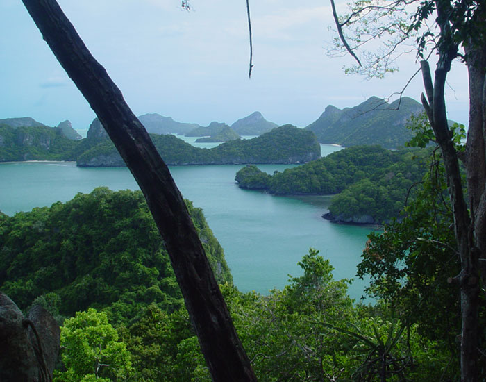 4 Day Ang Thong Yacht Charter - View from Wua Talab